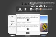 BlackPad PSD макет шаблона блока посвященный iPad