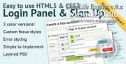 Логин панель dle Sign up panel v.1.1 на HTML5&CSS3